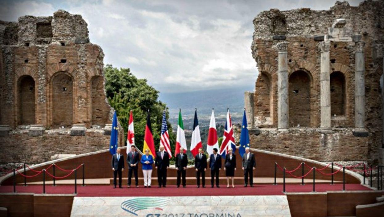 G7 Family photo, Taormina, Sicily