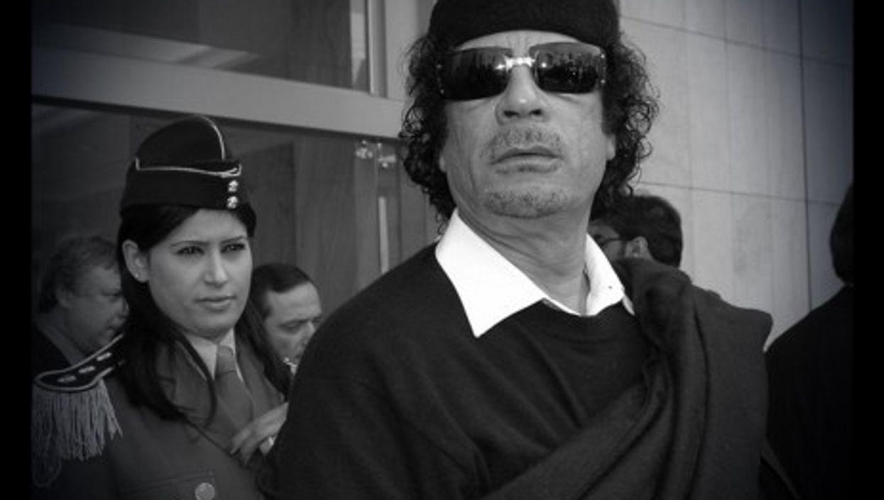 Gaddafi with his Amazonian Guard