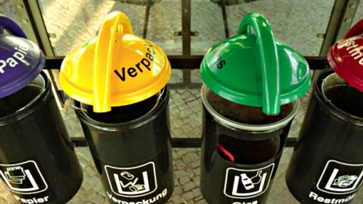 Garbage cans in Berlin
