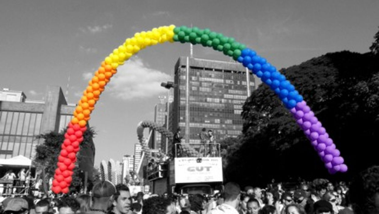 Gay Parade in Sao Paulo