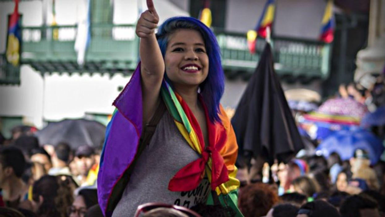 Gay Pride Day in Bogota last year
