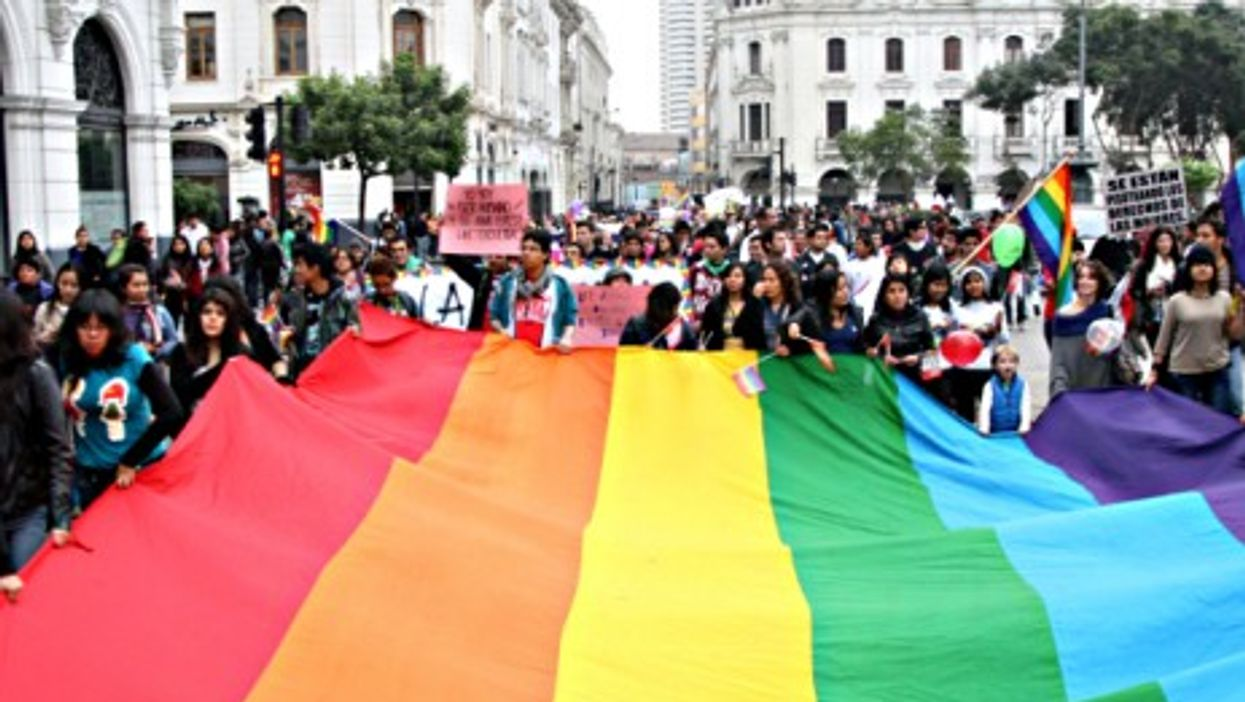 Gay Pride in Lima on June 29, 2013.