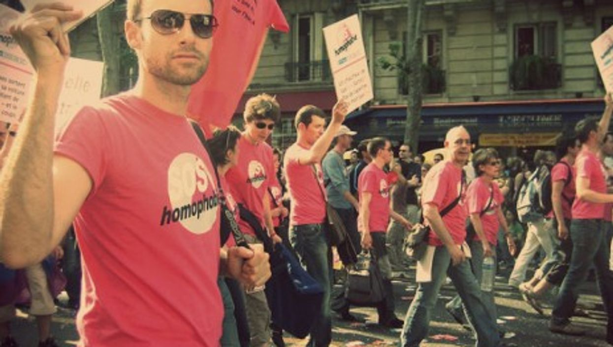 Gay rights demonstration in Paris