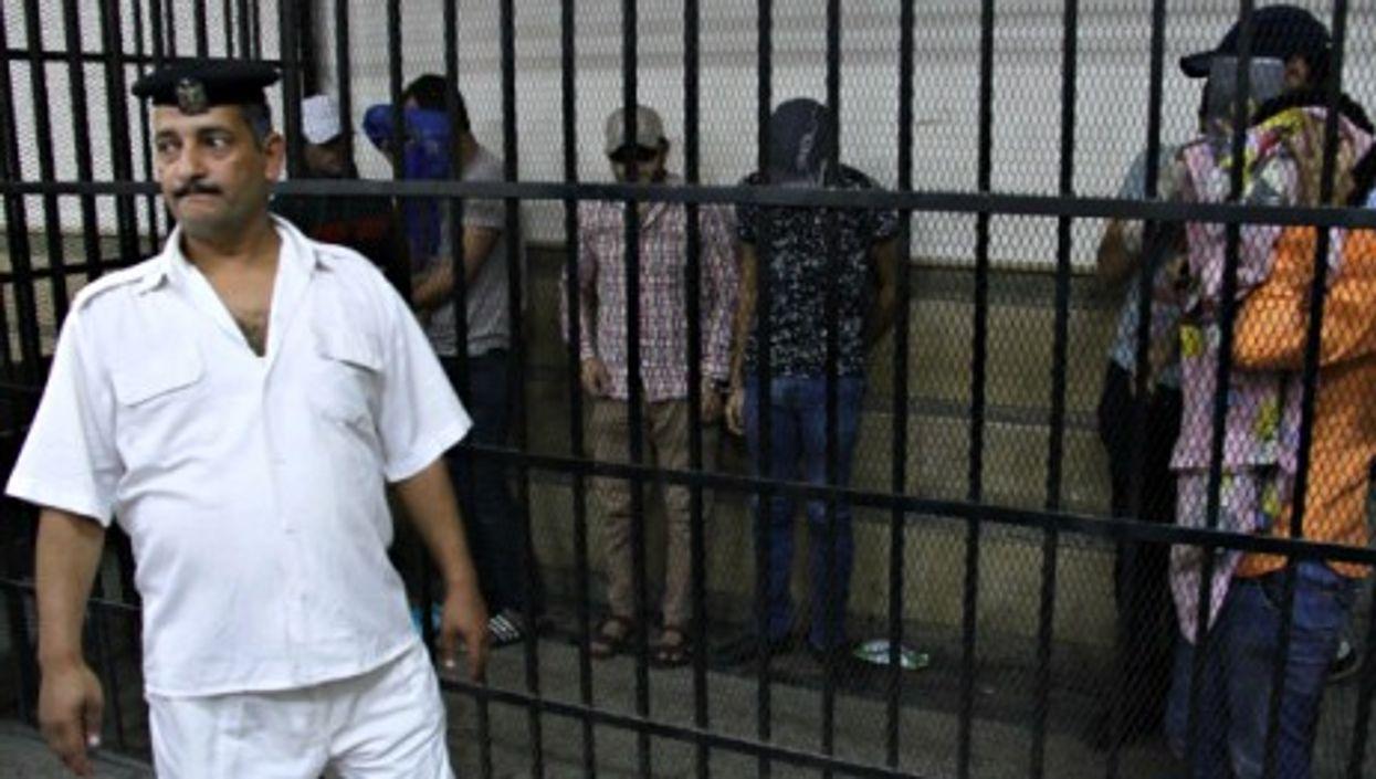 """""""Gay wedding"""" under arrest in a Cairo jail on Nov. 1."""