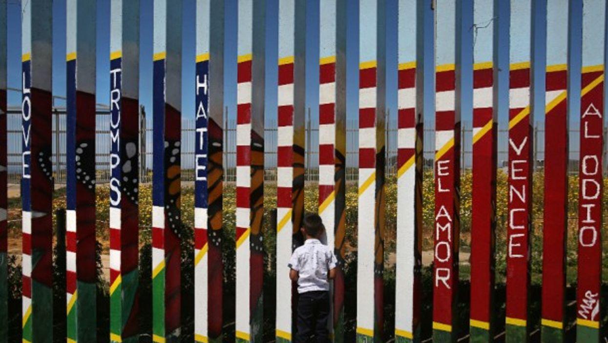 Gazing through the border wall in Tijuana