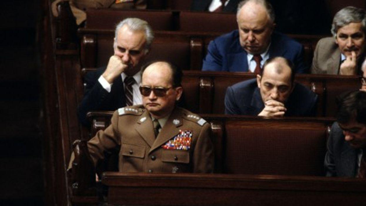 General Wojciech Jaruzelski in Warsaw in 1982