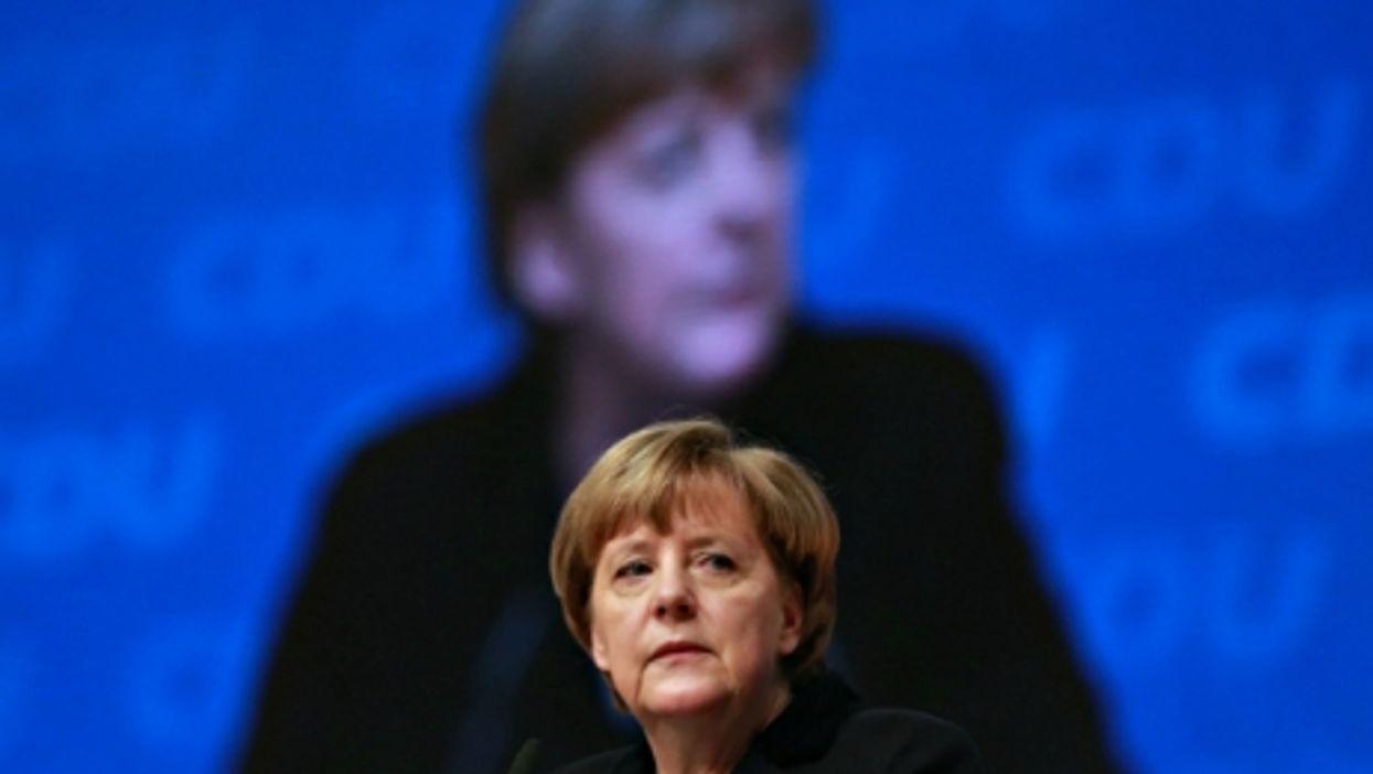 German Chancellor Angela Merkel in Karlsruhe, Germany, on Dec. 14,