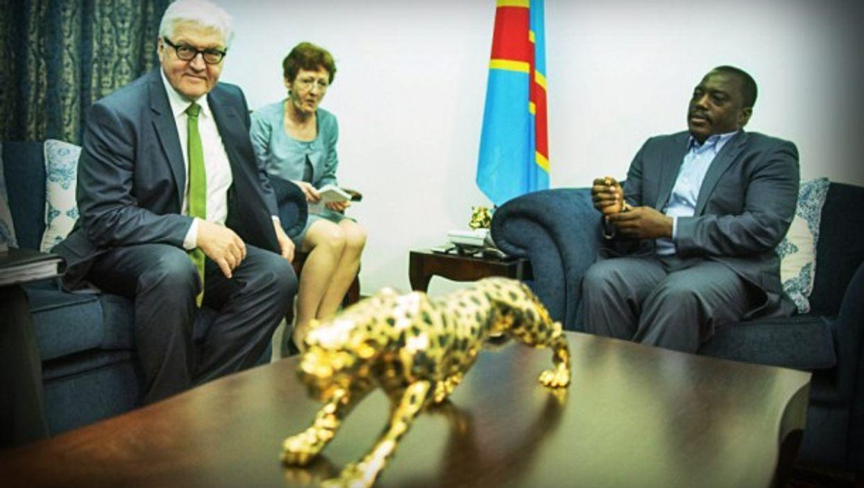 German Foreign Minister Frank-Walter Steinmeier visits of office of DRC President Joseph Kabila