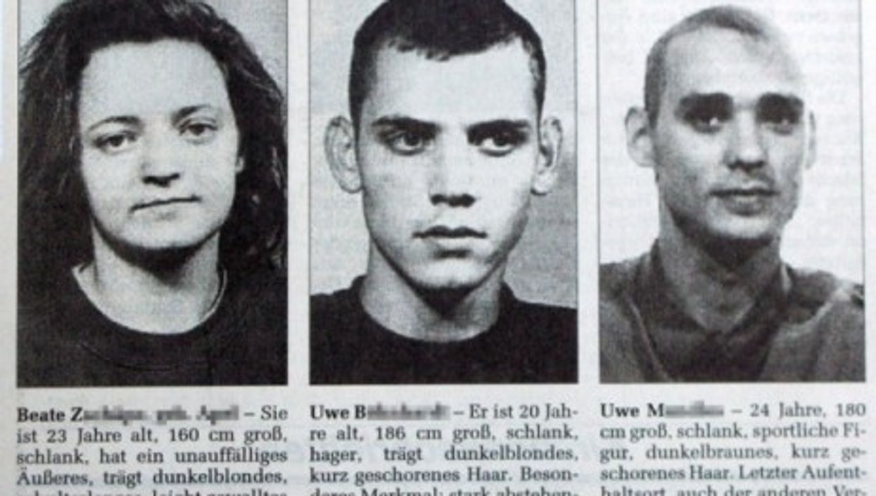 German right-wing terror suspects Beate Zschäpe, Uwe Böhnhardt and Uwe Mundlos (Wikipedia)
