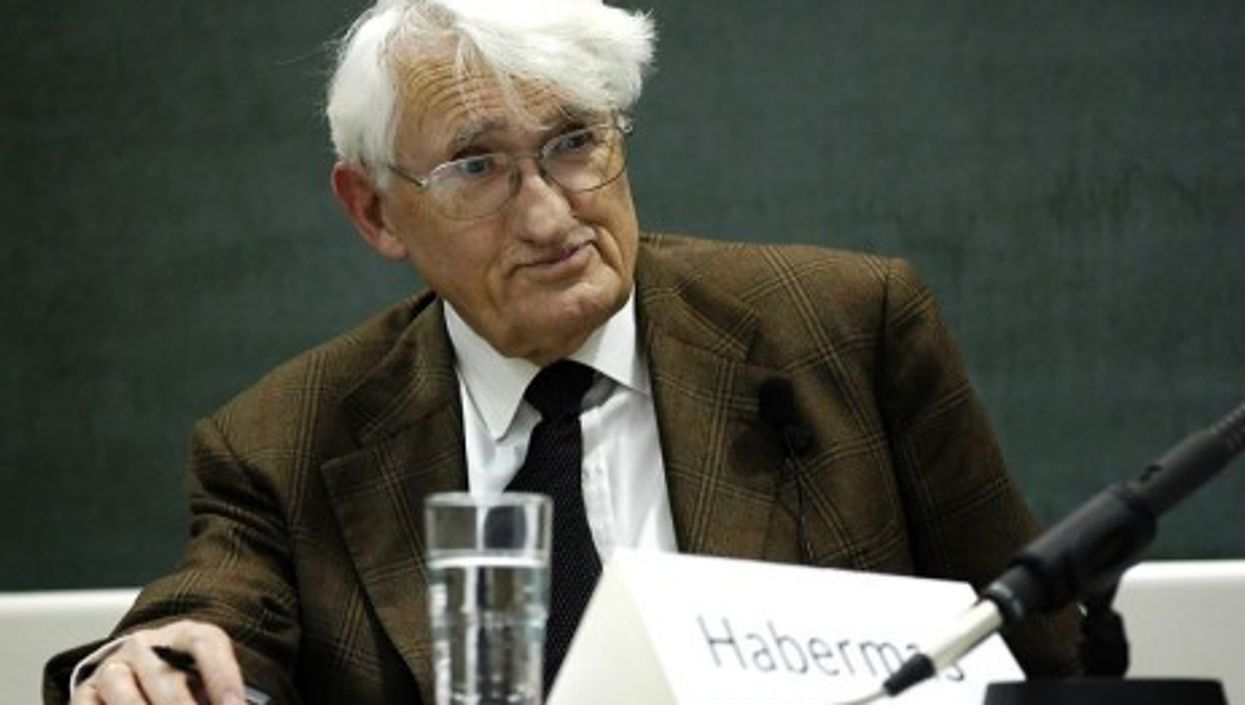 Germany's Jürgen Habermas, one of today's best-known thinkers
