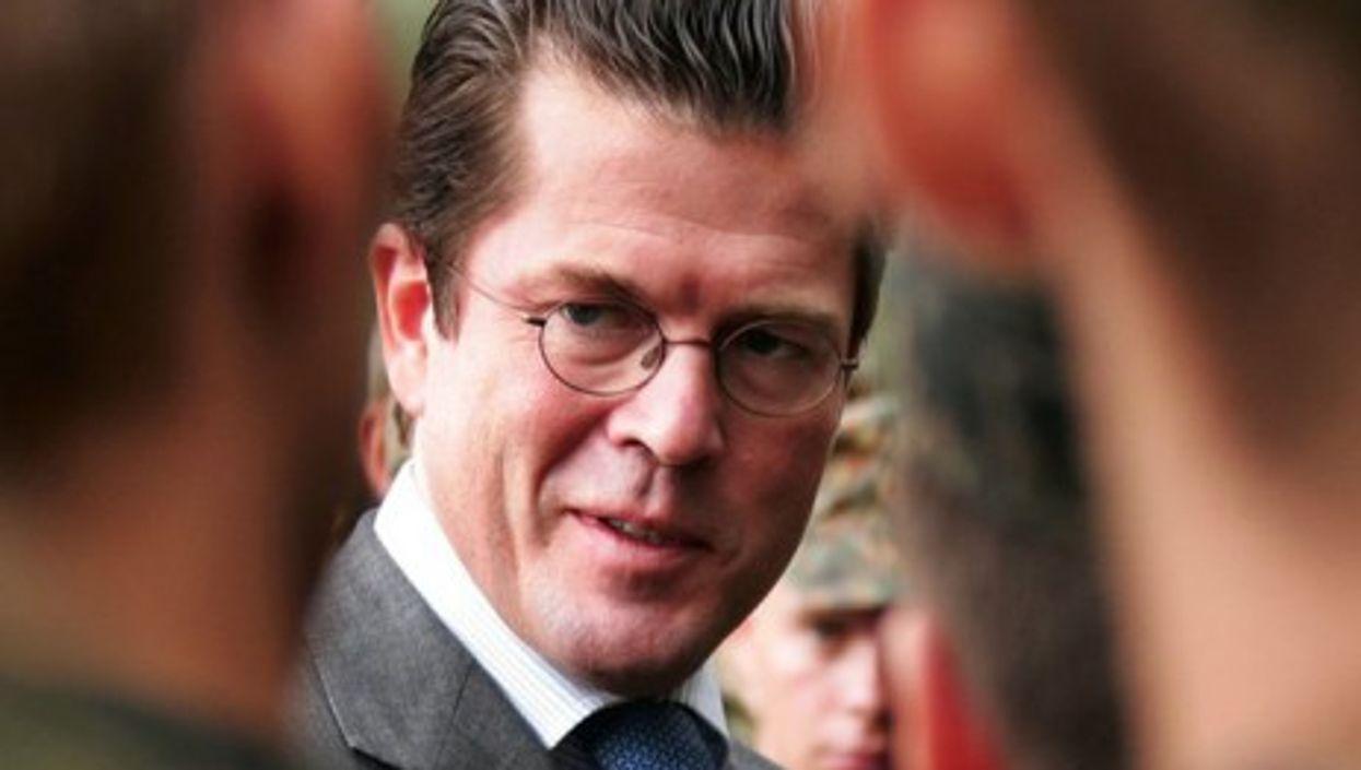 Germany's former Minister of Defense Karl-Theodor zu Guttenberg