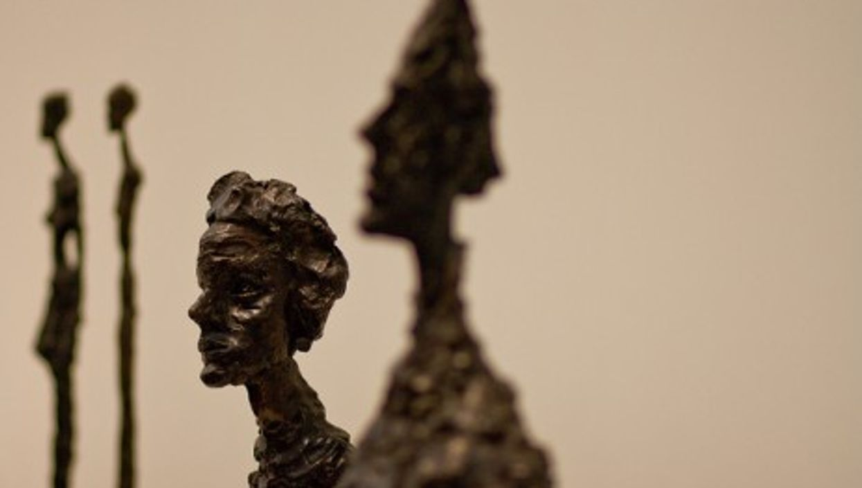 Giacometti sculptures Annette IV and Bust of Diego (mjk23)