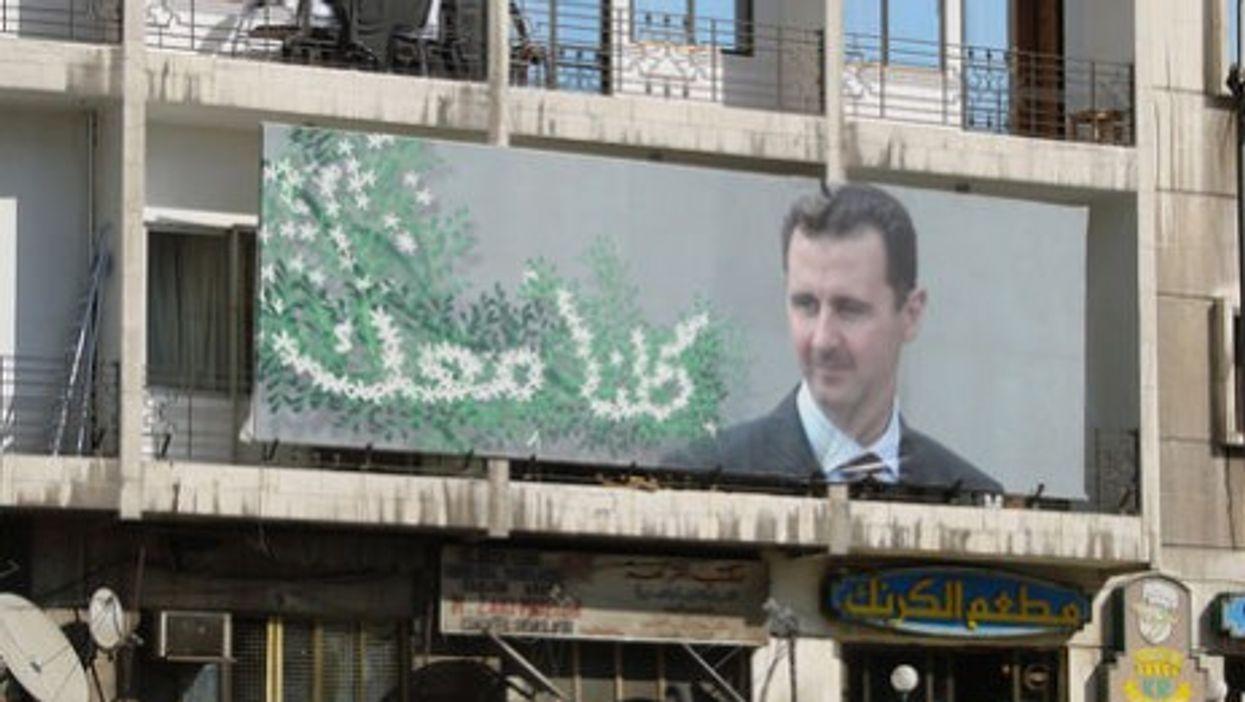 Giant billboard of Assad in Damascus