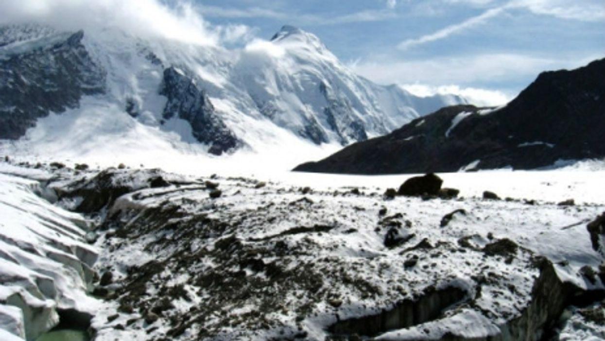 Glaciers receding in the Bernese Alps