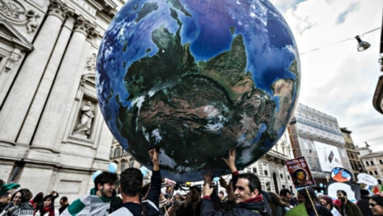 Global Climate March in Rome on Nov. 29