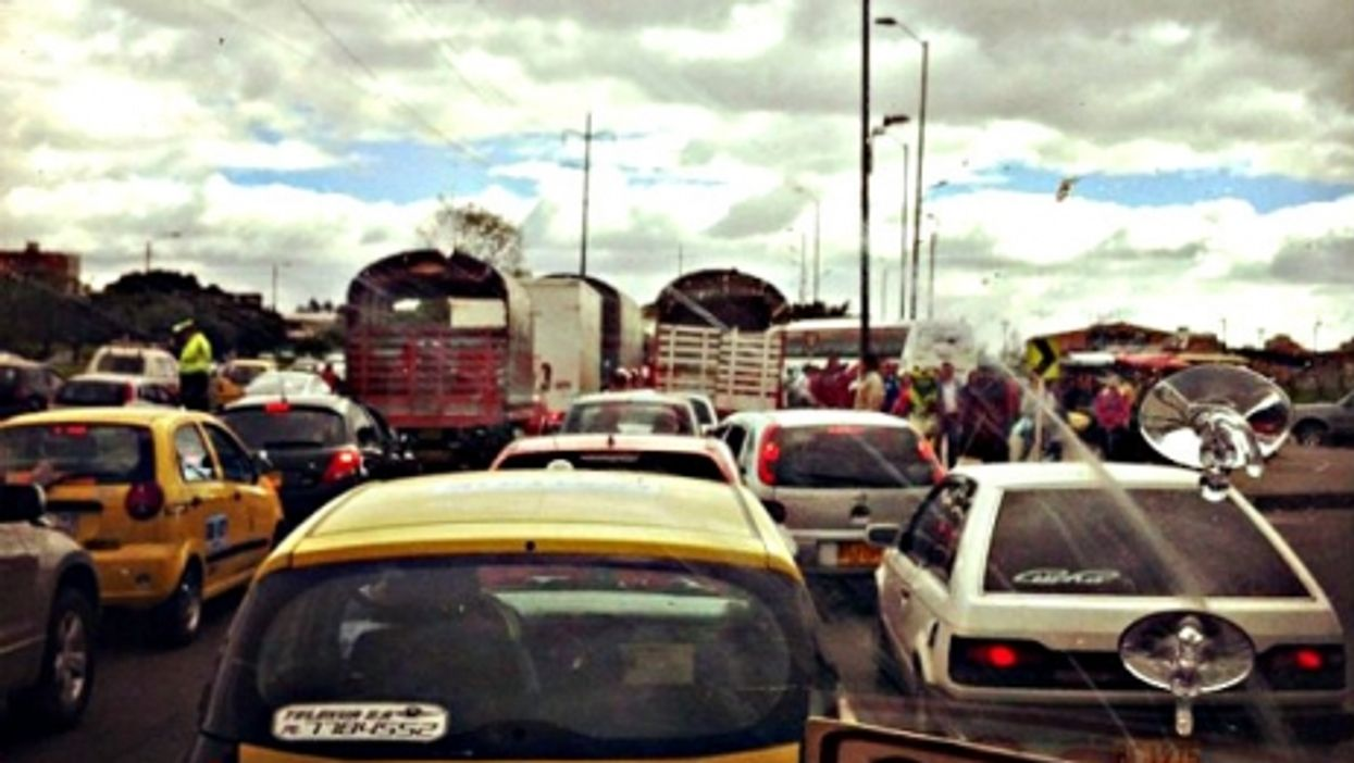 Gnarly traffic in Bogota, Colombia