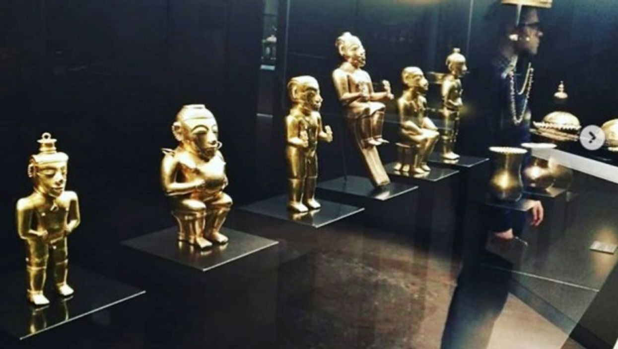 Gold artifacts from Quimbaya Collection in Madrid, Spain