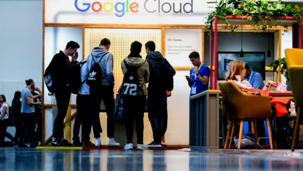 Google stand at Munich's trade fair
