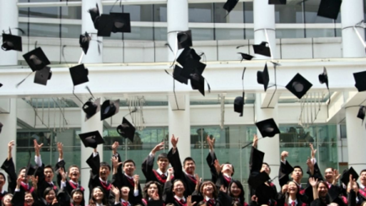 Graduates at the Guangdong University of Foreign Studies in Guangzhou