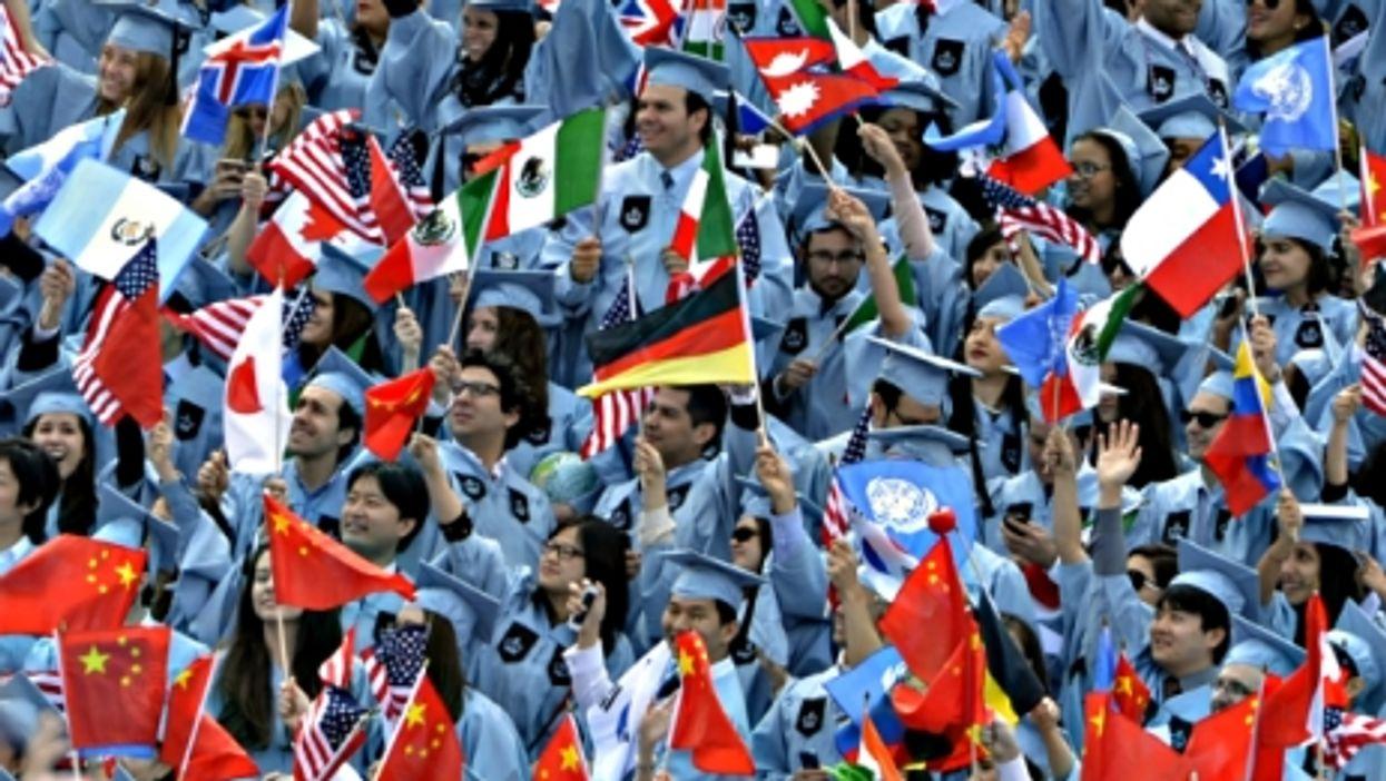 Graduation day at Columbia University on May 20