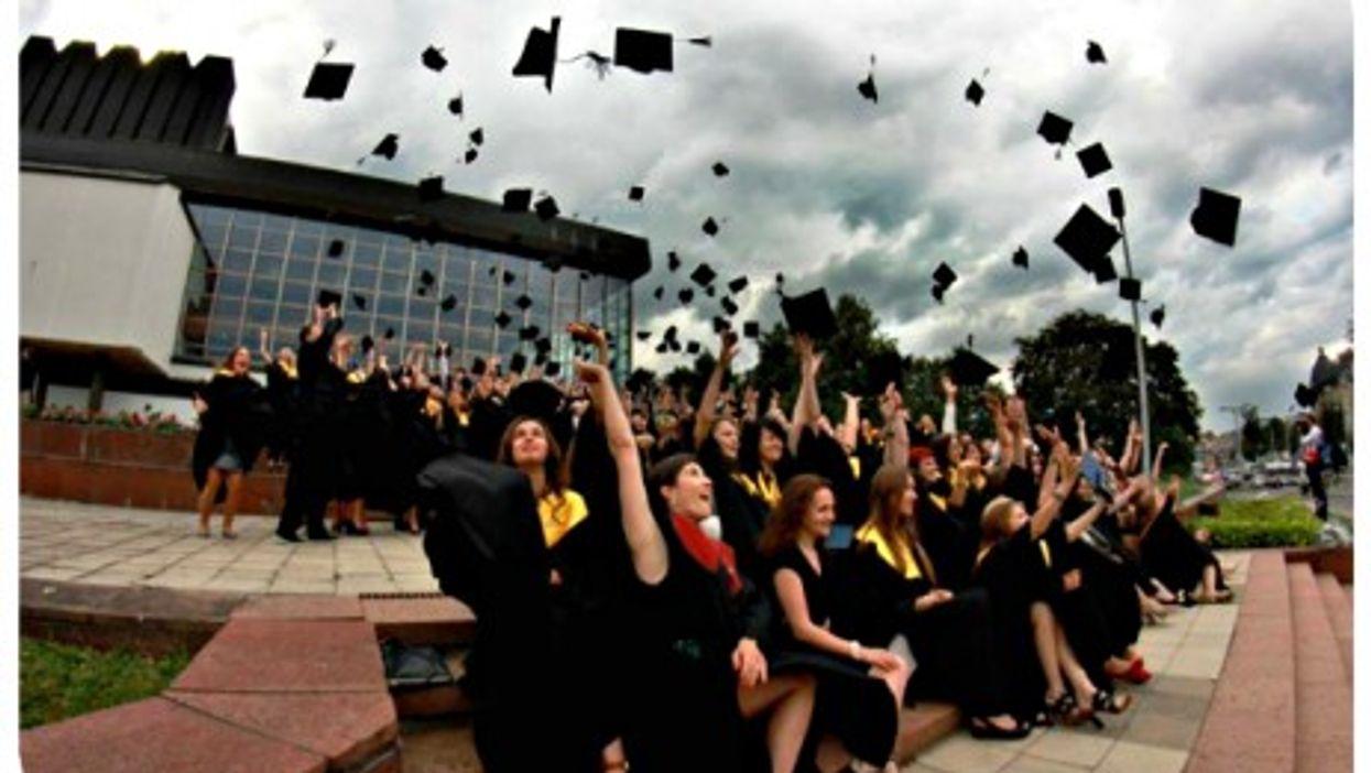 Graduation day at the European Humanities University in Vilnius