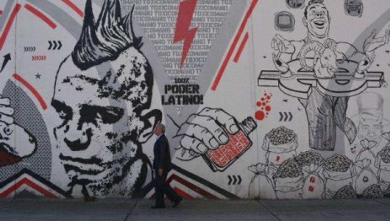 Graffiti from the Toxicomano art collective in Bogota