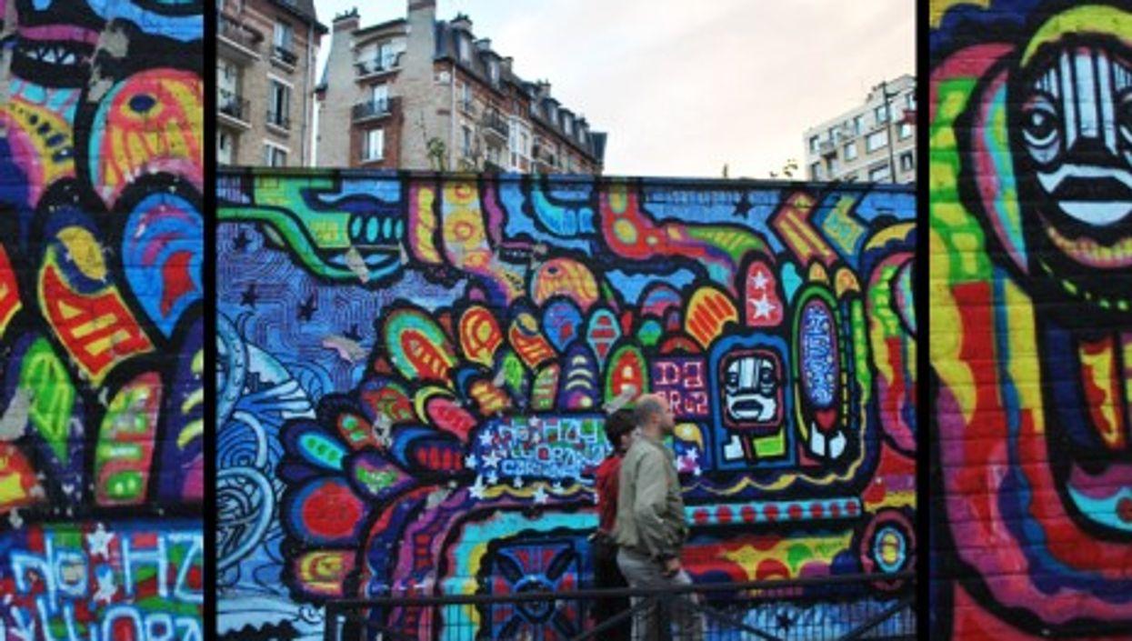 Graffiti in Paris' 19th arrondissement