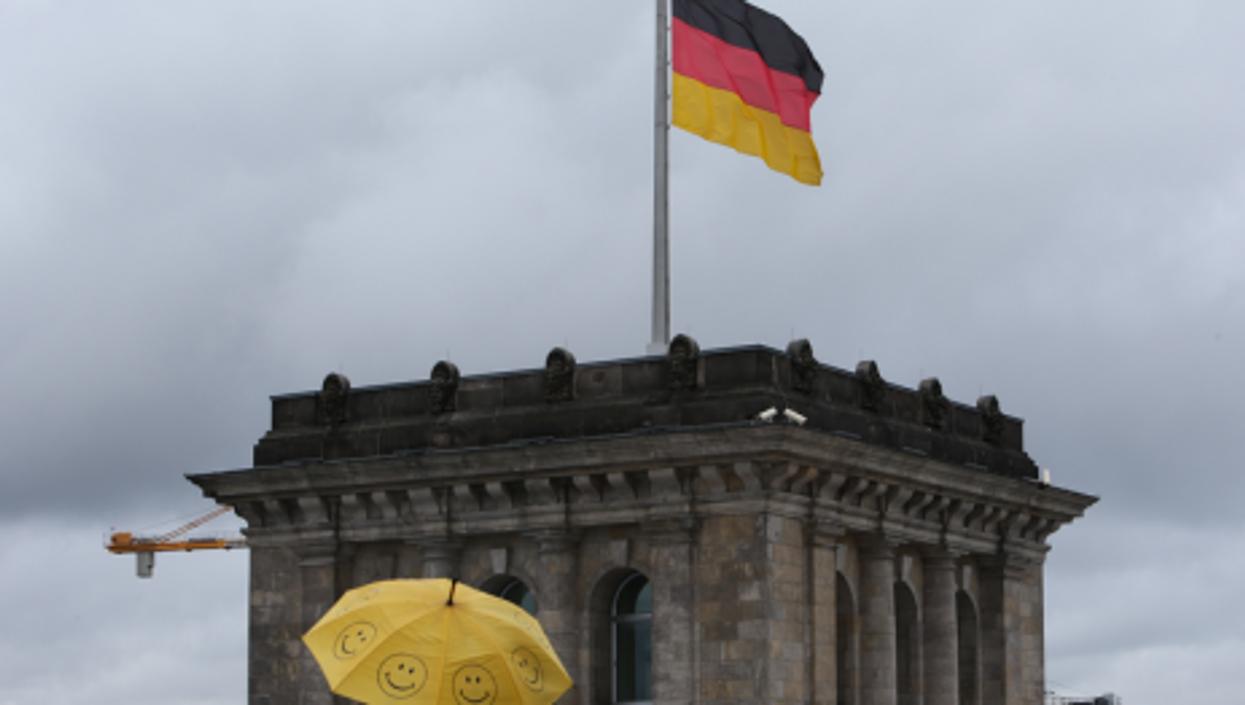 Gray skies at the Bundestag