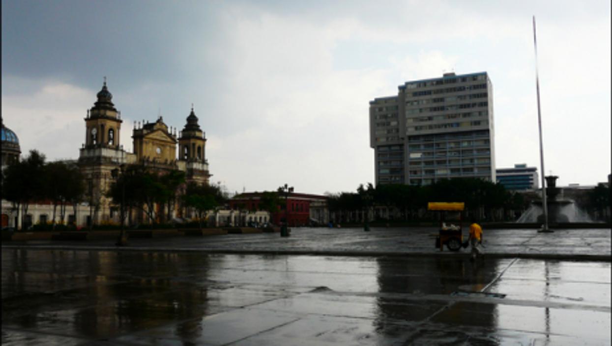 Gray skies in Guatemala City