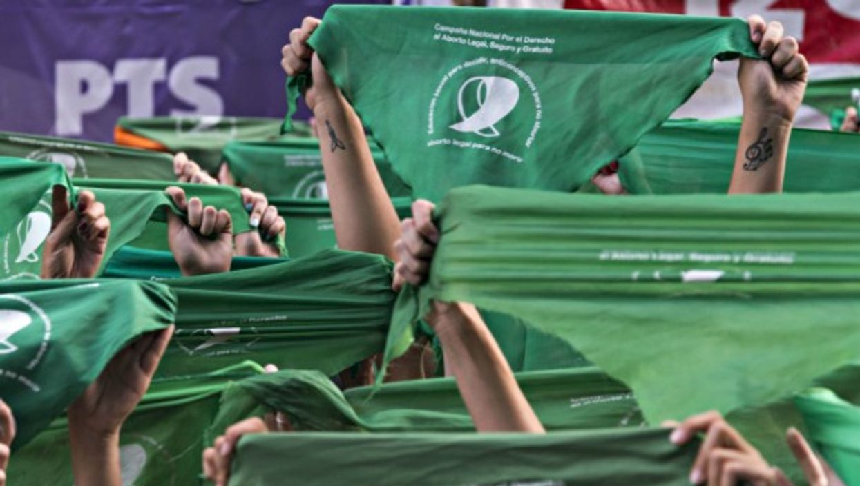 'Green bandanas' at a pro-abortion protest in Buenos Aires