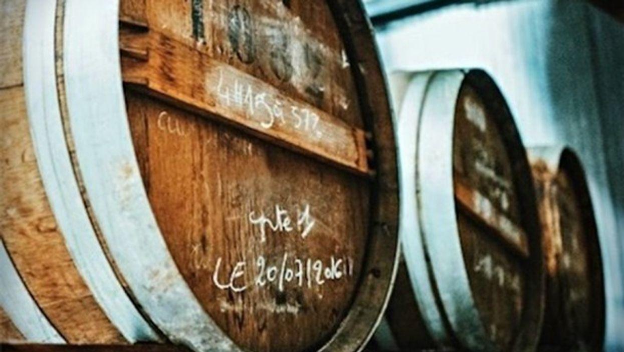 Guillotine vodka barrels