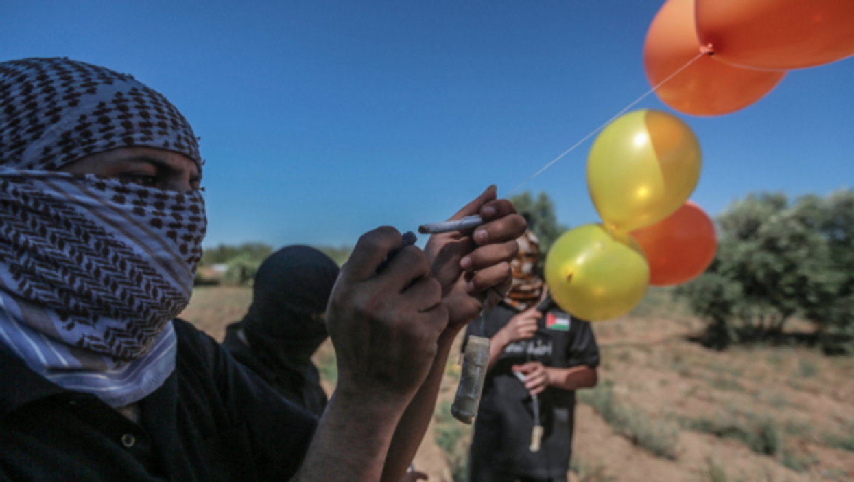 Hamas militants sent incendiary balloons into Israel, prompting retaliatory airstrikes