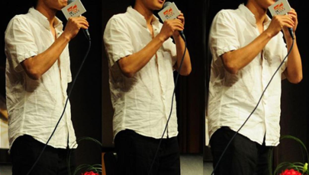 Han Han (3X) at the Hong Kong Book Fair, 2010 (wikipedia)