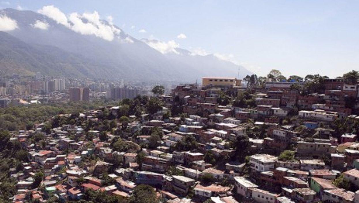 Haphazard residential construction outside of Caracas, Venezuela