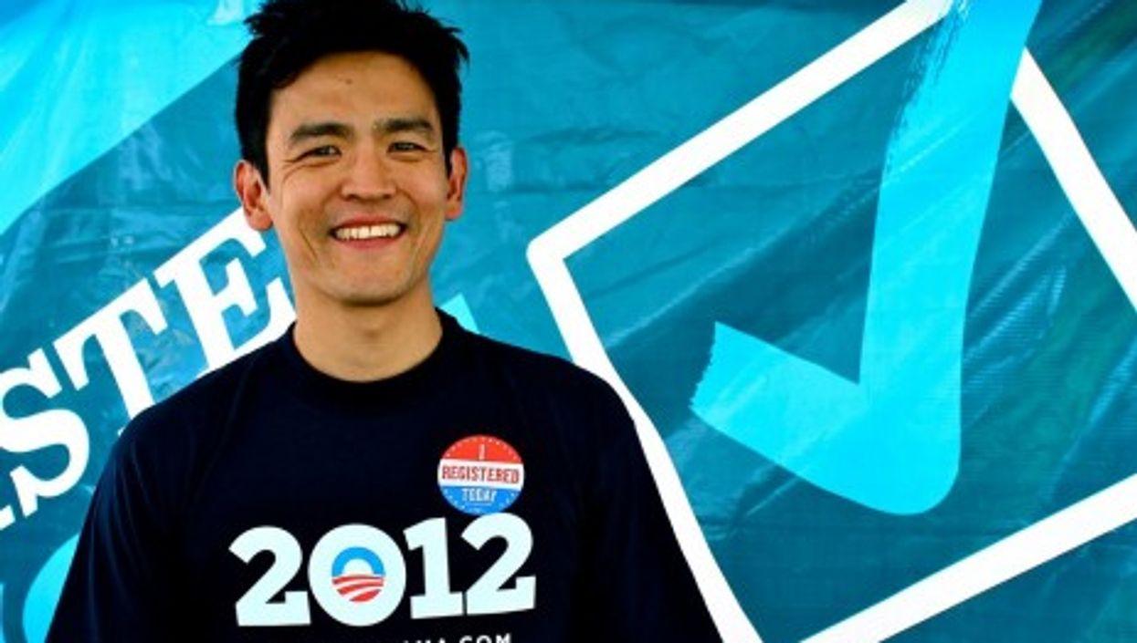 Harold (John Cho) says: Vote Obama!