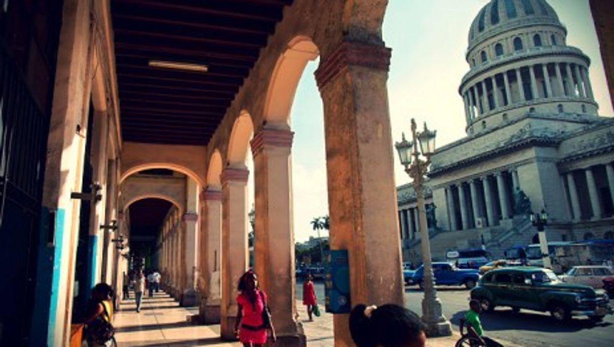 "Havana's ""Recova"" in front of the Capitolio"