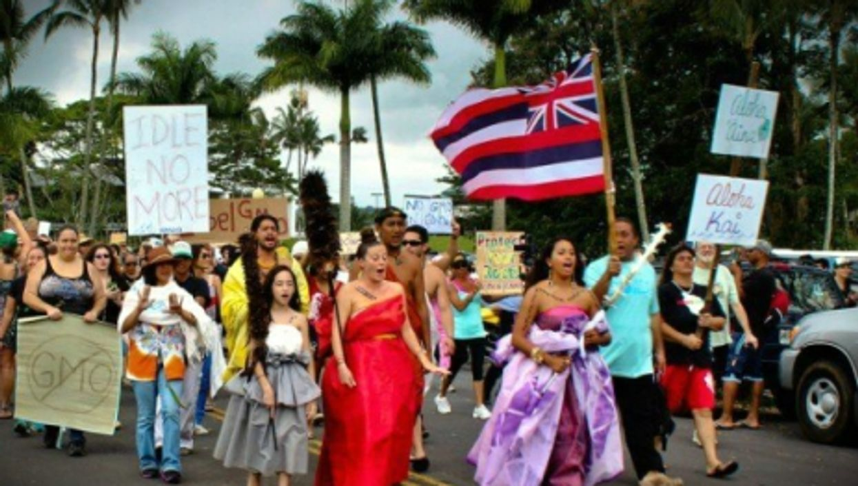 Hawaiians protesting GMOs.