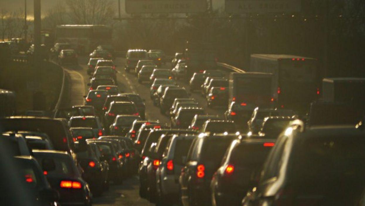 Heavy traffic, New Jersey Turnpike