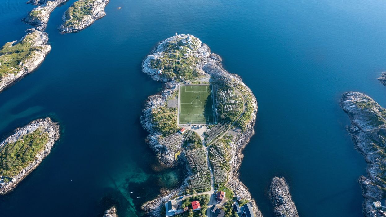 Inside Volcanoes, In Front Of Trains: 10 Stunning Soccer Fields Around The World
