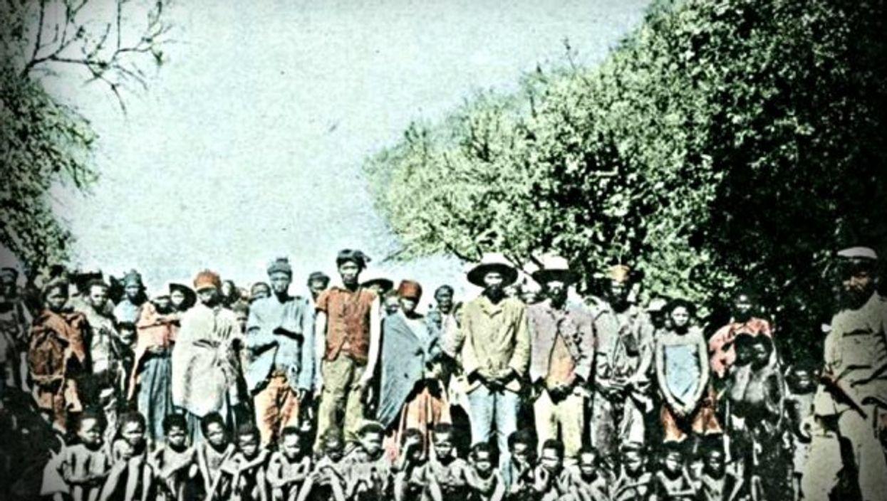 Herero war prisoners circa 1898