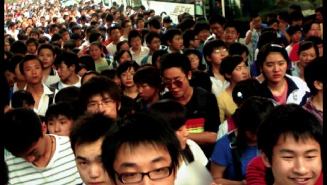 High school students going to pass the Gao Kao exam