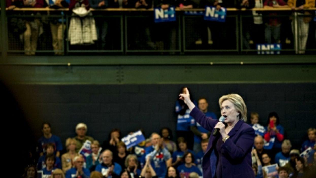 Hillary Clinton in Nashua, New Hampshire, on Feb. 2