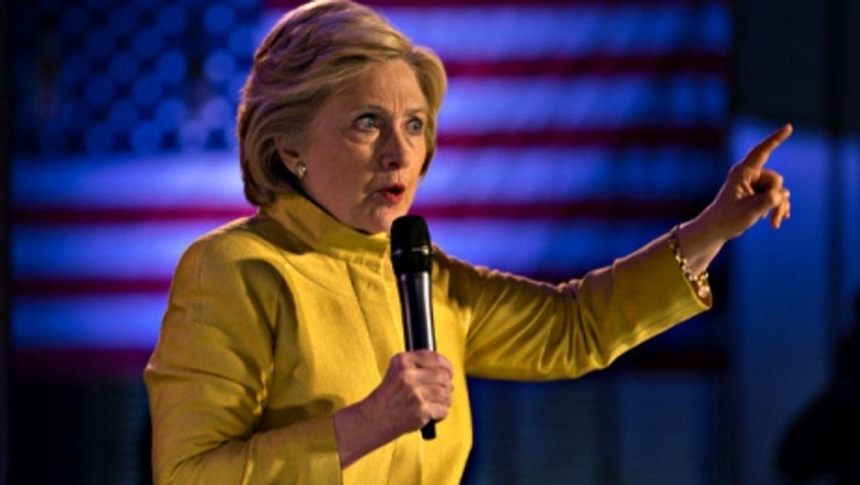 Hillary looking