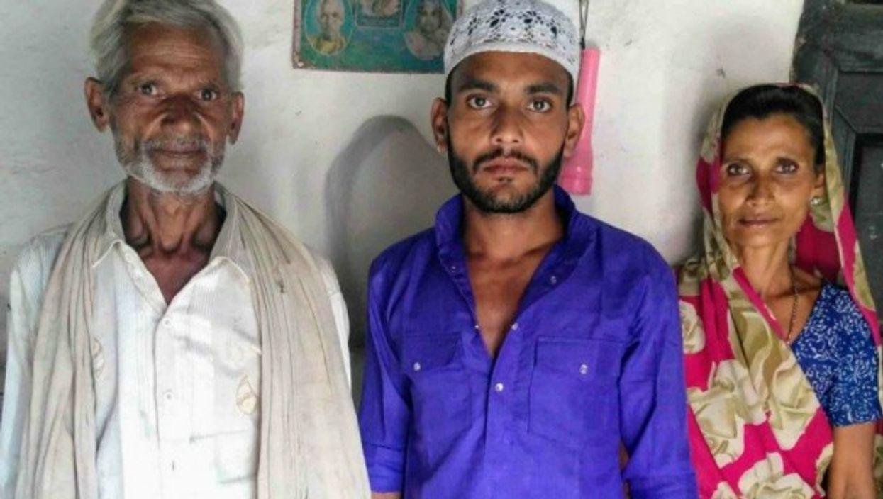 Hindu and Muslim residents of Sadhan