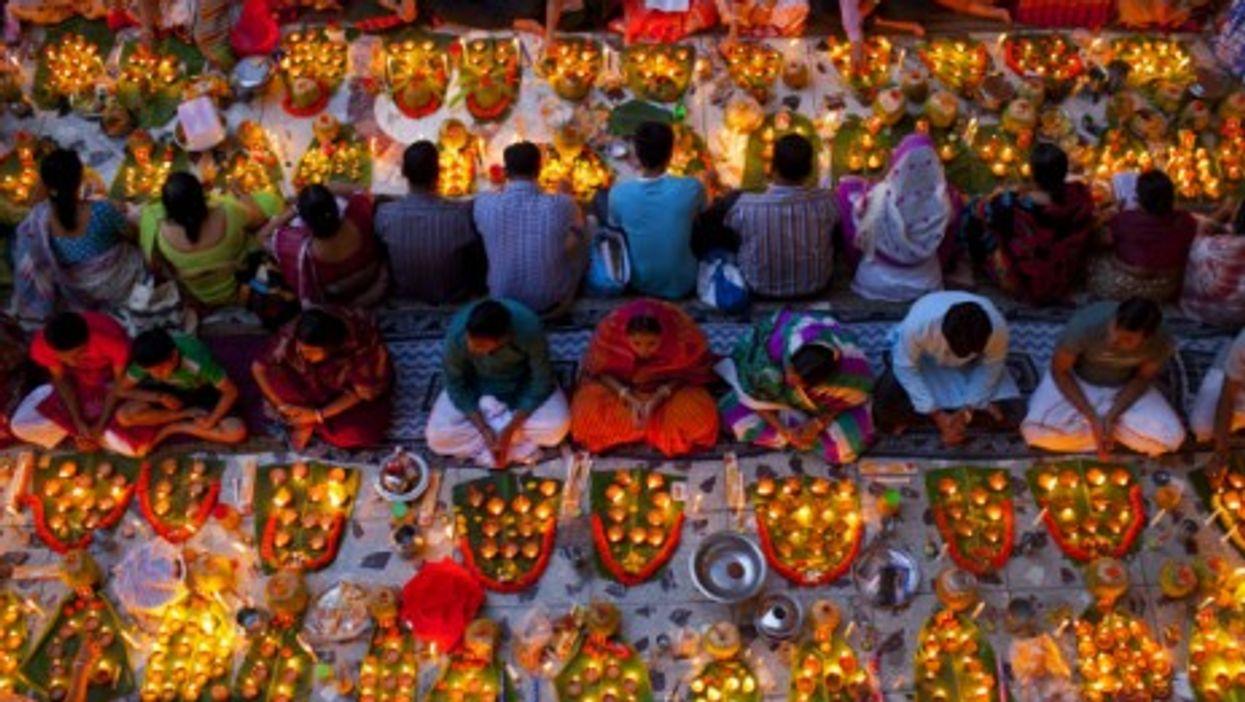 Hindu devotees Swamibagh, Bangladesh