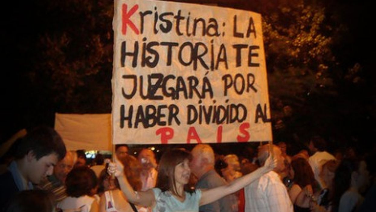 """""""History will judge you for having dividing the country..."""""""