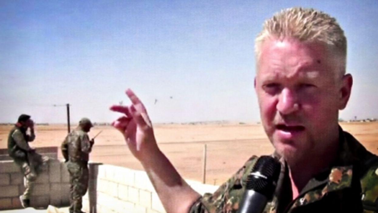 Hollywood actor turned YPG volunteer Michael Enright