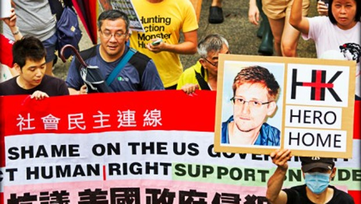 Hong Kong rally in support of Edward Snowden