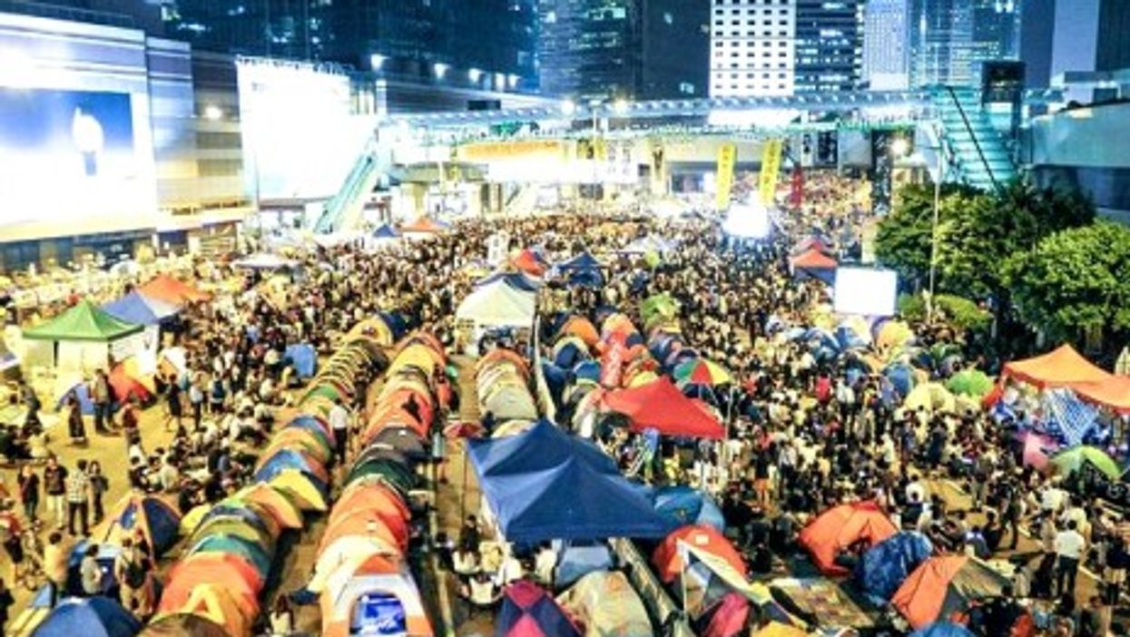 """Hong Kong's """"Occupy Central"""" protesters on Tuesday"""