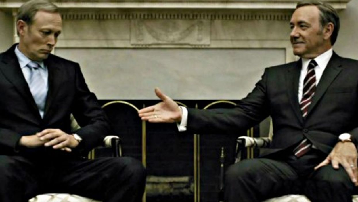 House of Cards' Russian President Petrov and U.S. President Underwood
